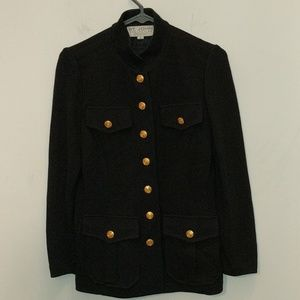 St. John Marie Gray Black Knit Blazer Size 4